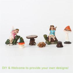 Fabricante Quanzhou Polyresin Saída Mini Fairy Figurine Home/decoração de jardim