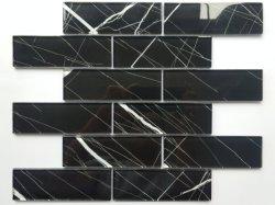De zwarte Marmeren Zwarte Tegels van het Mozaïek van het Glas voor het Dak van het Metaal van de Steen van de Kleur van de Tegel van de Muur van het Mozaïek/Jubin Dinding Mozek/Mozaïek Phab Ntsa Pobzeb