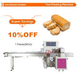 Torta de pan galletas automática Máquina de embalaje de flujo de carne seca el Pescado Congelado mariscos carne Pack almohadas sacudidas de la maquinaria de envasado