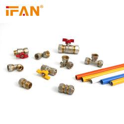 IFAN Pex adaptador de tubo codo en T 16mm 20mm Pex de latón Conexión adaptador en T de codo de latón adaptador Pex de latón