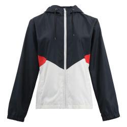 As mulheres roupas de inverno de tamanho personalizado Plus College Aviador Japonês Trabalhador Sequin Varsity Jacket com o Capô