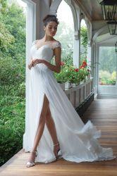 كاب سليفز اللباس شاطئ bho العروس الزفاف اللباس انقسام مثير Lb28151