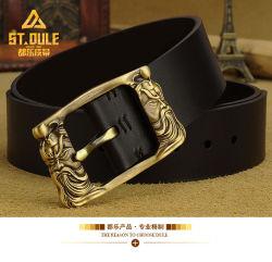 Cinghia cinese Bronze unica resa personale dell'elemento della cinghia di cuoio della mucca del cuoio genuino di modo dell'inarcamento di Pin dell'ottone
