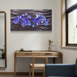 도매 LED 3D 금속 유화 현대 실내 가정 벽 예술 장식 수공예