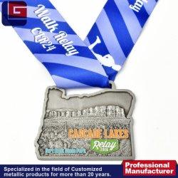 Hoge kwaliteit Goedkope Custom Logo Embossed Shaped Bronze Medal