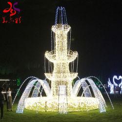 크리스마스 와이어 프레임 3D 스트리트 LED 분수 모티프 라이트
