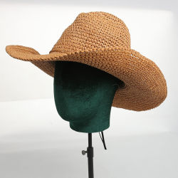 여름철에 통풍이 잘 되는 수제 소프트 종이 모자 S 자외선 차단제 여행 모자
