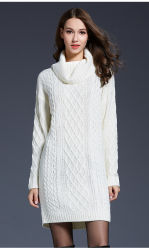 As mulheres de moda de Inverno de vestuário pulôver de Manga Longa Camisola de malha