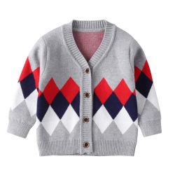 Зимняя Вязаная кофта свитер детский одежда куртка вместительной силуэты малыша трикотажных изделий