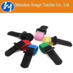 Регулируемый многоцветные крюк и петля кабельные стяжки