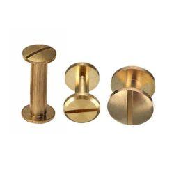 El tornillo de cabeza de botón personalizado el sexo de los remaches de enlace de 15mm M4 M6 M10 macho y hembra de latón el tornillo para tornillos de Chicago de cuero