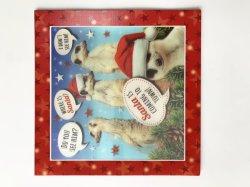 De vierkante Leuke Kaarten van de Groet van de Druk van de Hond van het Huisdier 3D Lenticular