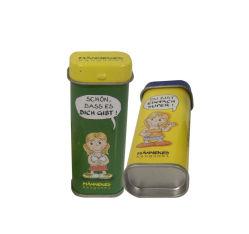 경첩을 단 뚜껑 박하 사탕 주석 상자는, 빈 박하 추잉 검 패킹 금속 주석 상자를 디자인한다