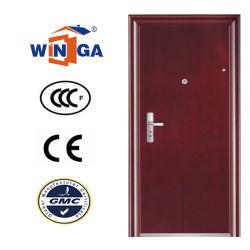 Design plano com moldura decorativa porta metálica de Aço de segurança W-S-170