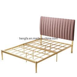 Заводские настройки цвета несколько мягкой изголовье кровати диван кровать из нержавеющей стали рамы