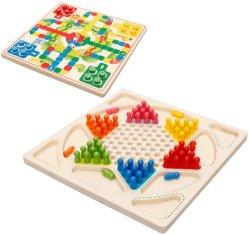 도매 목판 게임 중국 Checkered 격판덮개 아이를 위한 나무로 되는 장난감 게임
