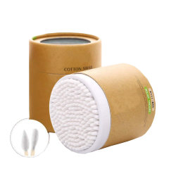مستهلكة 3 بوصة ورقة عصا قطن ممسحة مستديرة محدّد رؤوس ينظّف أذن تنظيف أداة
