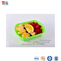 210 * 153 * 100mm 플라스틱 음식 용기 테이크어웨이 런치 박스 패스트 푸드 컨테이너