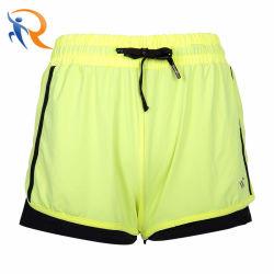 De façon personnalisée Sports ceinture élastique taille haute protection contre le soleil doux en coton femmes Shorts de refroidissement