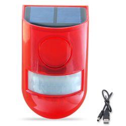 La energía solar Luz de alarma con detector de movimiento resistente al agua, protegido de su casa, finca, granero, granero, Villa, Patio