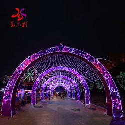LED Navidad Gran Arco Estrella de luz para decorar Shopping Mall