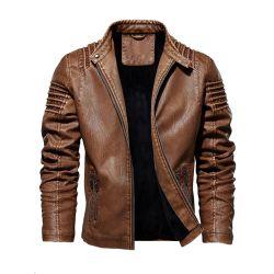 크기 가죽 재킷 플러스 가을과 겨울 가죽 재킷 유럽과 미국 형식 가죽 재킷 남자