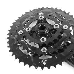아시아 알루미늄 합금 크랭크 27 속도 48t 산악 자전거 정연한 구멍 스프로킷 바퀴 Crankset Chainweel