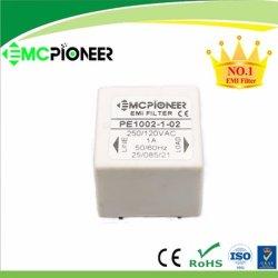 1 / 3 / 6 أمبير PE1002-1-02 50 / 60 هرتز PCB مرشح الضوضاء للتركيب