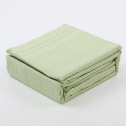 Comercio al por mayor 100% de la sábana de bambú Set conjunto de ropa de cama de hojas de bambú sedoso