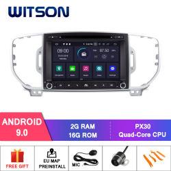 Auto DVD GPS des Witson Vierradantriebwagen-Kern Android-9.0 für KIA Sportage 2016 eingebaute DVR Funktion