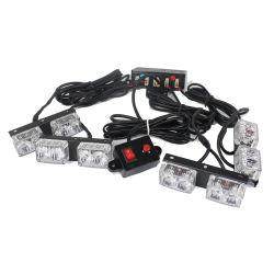 مصباح LED إضافي LED وامض في حالات الطوارئ في شبكة LED باللون الكهرماني الأبيض
