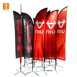Big Size Logo Custom Flying Beach Feather Flag Banners