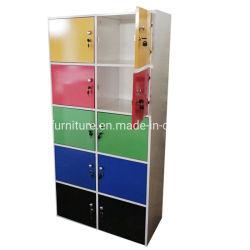 Coloré semi-brillant 10 Portes armoire de fichiers