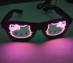 Хэллоуин светящиеся Неоновые рождественских вечеринок мигающий свет LED очки