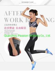 Hohes Eignung-Yoga gesetzte untere Legging Yoga-Büstenhalter-Sport-Abnützung der Frauen