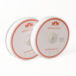卸売20mmはホックおよびループ締める物テープ白で縫う