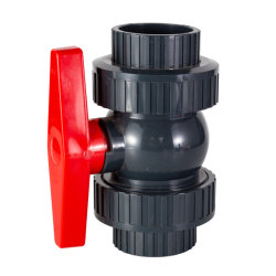 PVC de 75mm PN10 racor doble válvula de bola para el riego