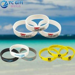 Logotipo Deboss personalizada de fábrica Sunken colorido da actividade da empresa loja personalizada da Pulseira de Silicone Sport Award pulseiras de borracha para presente de promoção