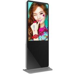 50인치 휴대용 독립형 토템 키오스크 LCD Windows 판촉 광고를 위한 디지털 포스터 디스플레이