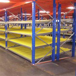 Cremagliera d'acciaio di flusso per gravità della scatola del pallet di memoria industriale del magazzino di FIFO con i rulli