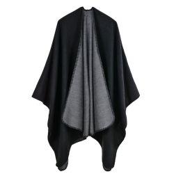 Jacket der einfarbigen Mantel-Ebenen-Winter-Dame öffnen Schal-