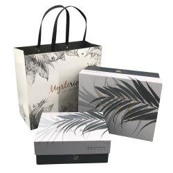 Capa dura recortados exibir a caixa de papel de entrega de presentes de Luxo