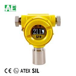 Volles englisches Menü-an der Wand befestigte Gas-Warnung für Cl2 0-10ppm mit OLED Bildschirmanzeige