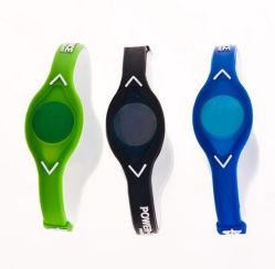 Pulsera de silicona más barata de iones negativos fina pulsera de silicona con logotipo personalizado
