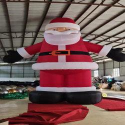 Productos inflables 6M H Oxford Santa Claus para la decoración de Navidad