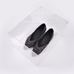 Zapatos zapatillas acrílico magnética personalizada Vitrina frente Drop Box