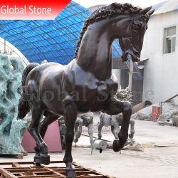 Le métal moulé personnalisé Animal statue de bronze Sculptures de cheval (GSBR-265)