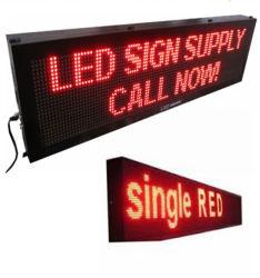 سعر رخيص في الداخل P10 اللون الأحمر 32*16 بكسل مؤشر LED التمرير شاشة عرض الرسائل مع تحكم WiFi