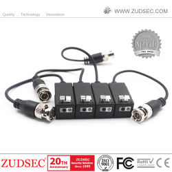 HD BNC UTP Transceptor passivo RJ45 Cat5 Potência Vídeo Balun Áudio