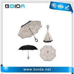 Parcours de Golf de promotion de repliage arrière Sun Outdoor Gift Windproof Parapluie inversé (Ua32208)